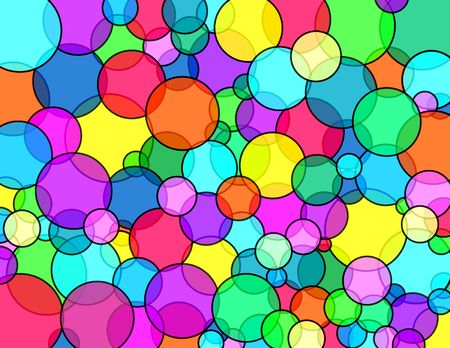 Bubbles vivid colors pattern