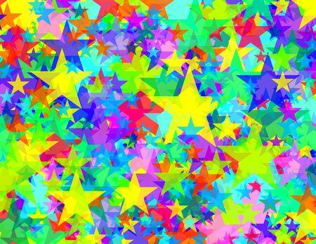 Transparante sterren patroon Stockfoto