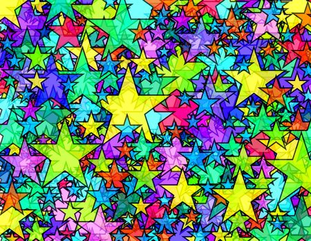 Transparent stars texture Stock Photo