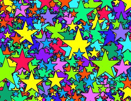 Vivid stars background