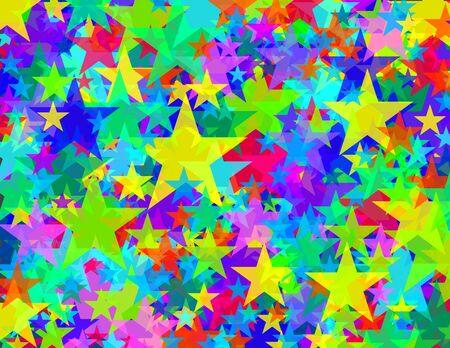 Glas sterren patroon