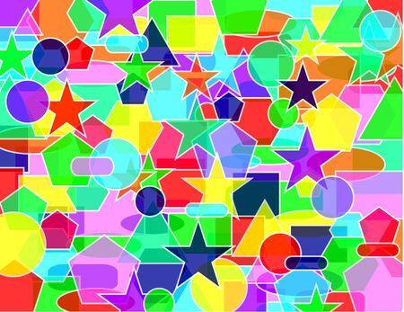 Diverse vivid colors geometric texture