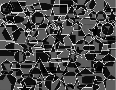 Geometrische abstracte patroon donkerder Stockfoto