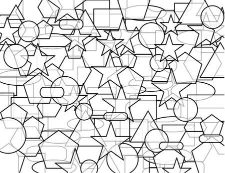 Disegno geometrico astratta contorni Archivio Fotografico - 6206966