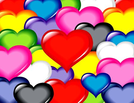 Volledige kleuren harten structuurpatroon