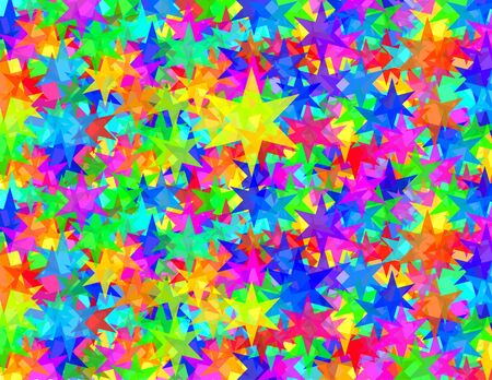 Zes punks sterren textuur