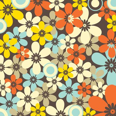 Retro Floral Seamless Pattern Stock Vector - 11264158