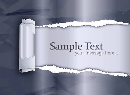 Ripped paper modern style with copyspace Stock Vector - 11264168