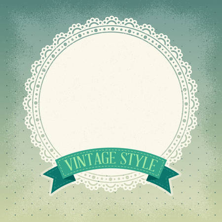 fabric art: Vintage background Illustration