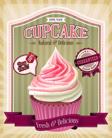 cup cakes: Vintage cupcake poster