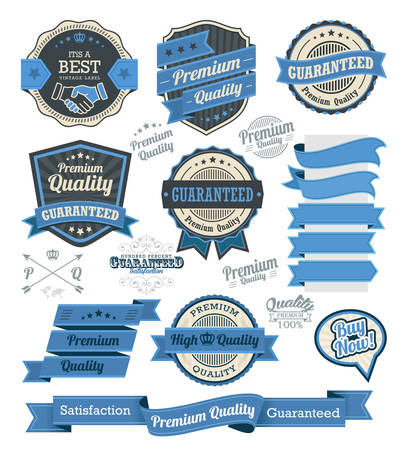 Set of vintage badges and design elements, vector illustration eps-10 Illustration