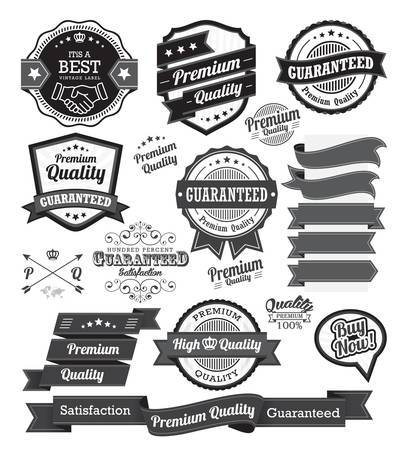Set of vintage badges and design elements