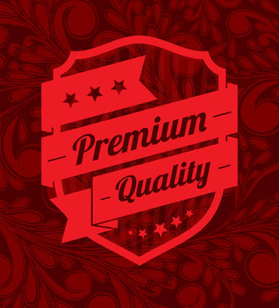 Premium label design over floral background