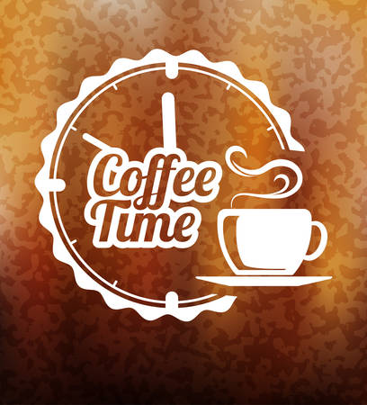 Coffee time premium label design
