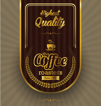Coffee label design over vintage background