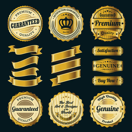 Ribbon e Badge Vector Set Archivio Fotografico - 32424996