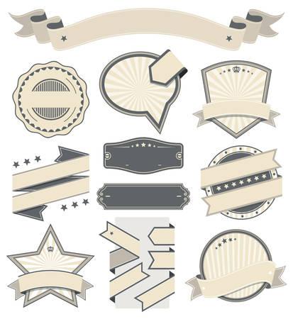 ribbons vector: Ribbons and Badges Vector