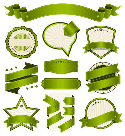 Ribbons and Badges Vector