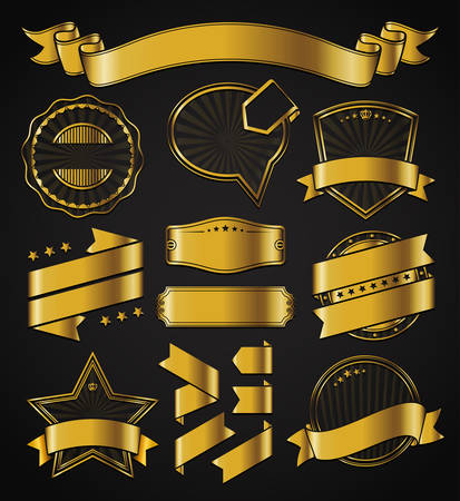 Ribbons and Badges Vector