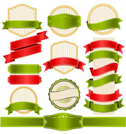 ribbon vector set: Vintage and Ribbon Vector Set