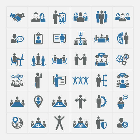 business graphics: Human resources and management icons set