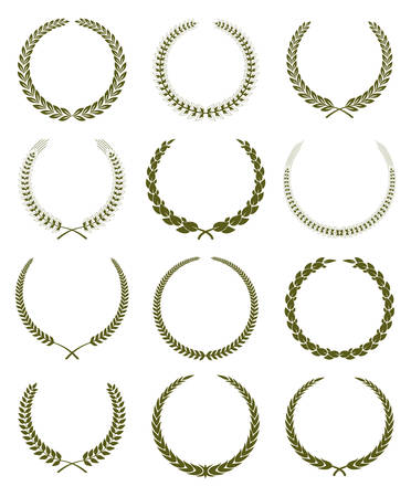 Laurel Wreath Vintage Labels