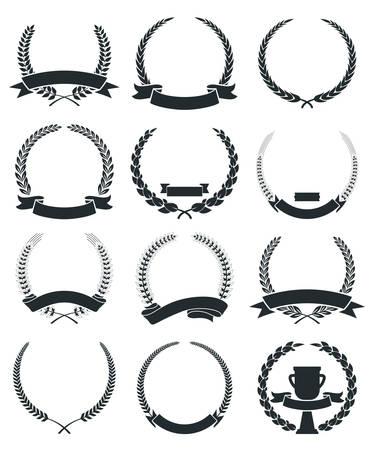 Tiquettes Couronne de laurier Vintage Banque d'images - 32425369