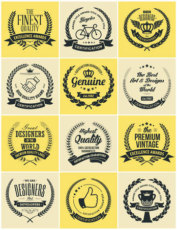 seal: Laurel Wreath Vintage Labels