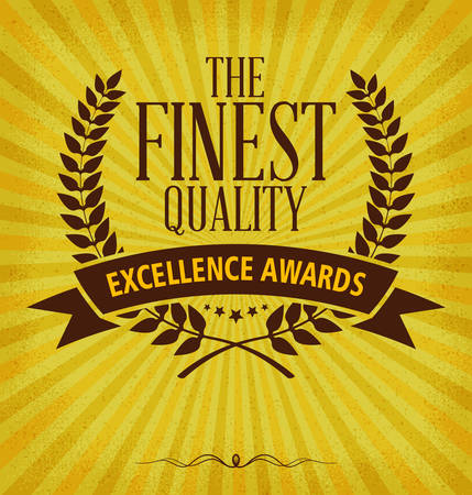 finest: Laurel wreath label with finest quality typography