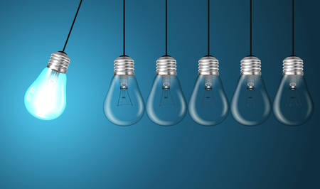 Idea concept with light bulbs illustration Vector