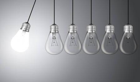 light bulb idea: Idea concept with light bulbs illustration