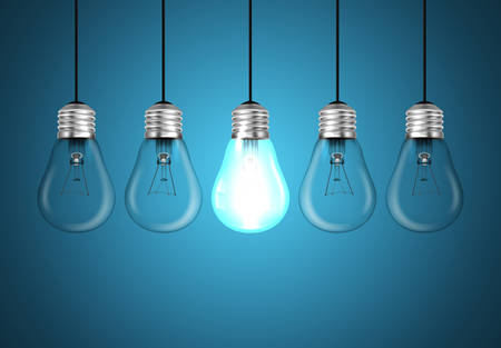 idea generation: Idea concept with light bulbs illustration