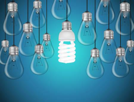 Idea concept with light bulbs illustration