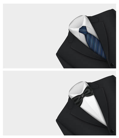 tux: Tuxedo vector background with bow tie Illustration
