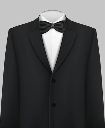 Tuxedo-Vektor-Hintergrund mit Fliege Standard-Bild - 32718037