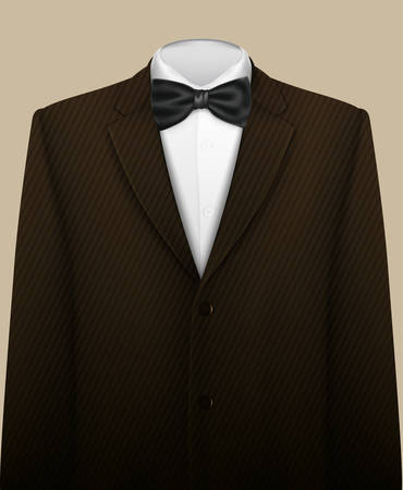 Tuxedo vector background with bow tie 矢量图像