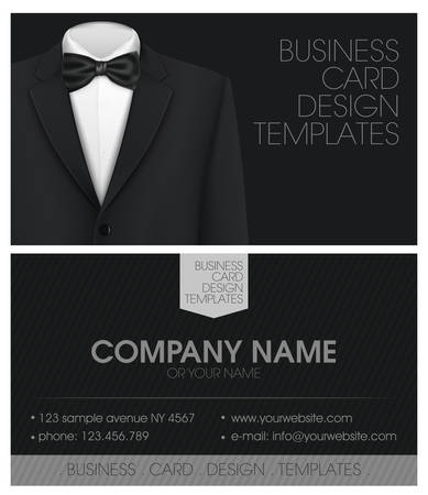 black people: Tuxedo vector background with bow tie Illustration