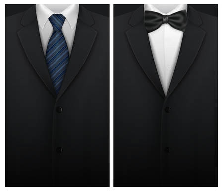 Tuxedo vector background with bow tie Ilustração