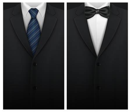 corbata negra: Tuxedo vector de fondo con pajarita