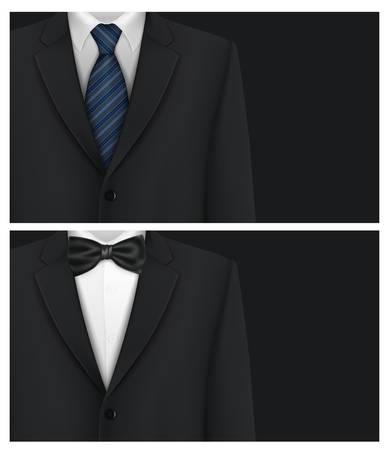 Tuxedo vector background with bow tie Illusztráció