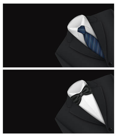 formal shirt: Tuxedo vector background with bow tie Illustration