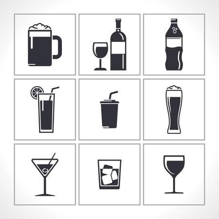 beverages icons Иллюстрация