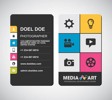 Business card cmyk style