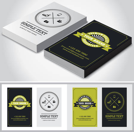 Vector retro vintage business card