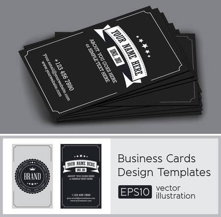 Vector retro vintage business card
