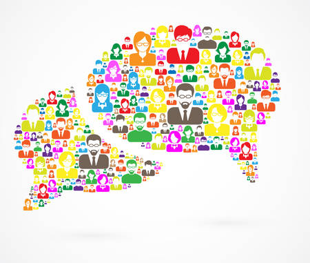 Speech Bubble of Communication Illustration