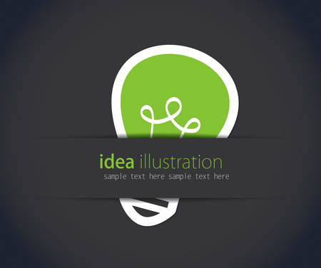 Vector light bulb idea concept template
