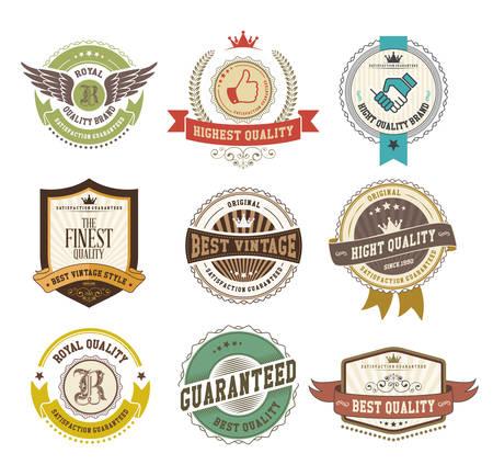 Set von Vintage-Abzeichen und Etiketten Standard-Bild - 33450162