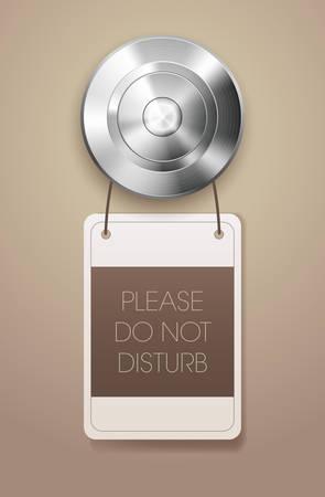 소요: Hotel door handle with \