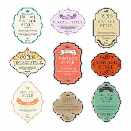 Vintage labels vector set Archivio Fotografico - 33450468